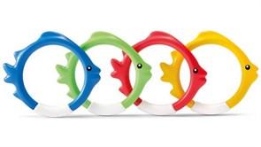 """55507 Кольца для подводной игры """"Рыбки"""", 4 цвета"""