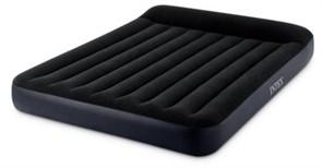 64144 Надувной матрас с подголовником Pillow Rest Classic Bed Fiber-Tech, 183х203х25см