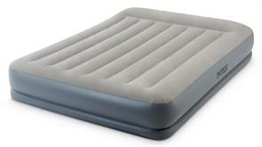 64118 Надувная кровать Mid-Rice Airbed 152х203х30см, встроенный насос 220V