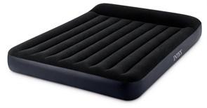 64148 Надувной матрас с подголовником Pillow Rest Classic Bed Fiber-Tech, 137х191х25см, встроенный эл.насос