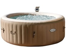 28404 СПА-бассейн Bubble Massage 145/196х71см, круглый с круговым пузырьковым массажем
