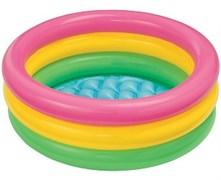 """58924 Детский надувной бассейн 86х25см """"Радуга"""" 68л, от 1 до 3 лет, надувное дно"""