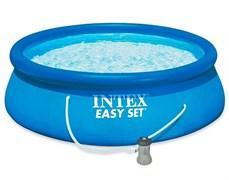28142 Бассейн Easy Set, 396х84см, 7290л, фильтр-насос 2006л/ч