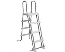 28073 Лестница для бассейнов до 122 см, 3 ступеньки, с площадкой, с защитой