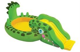 57132 Игровой центр Крокодил с горкой и распылит. 251х140х86см, от 3 лет