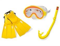 """55954 Набор для подводного плавания """"Приключения"""", 3 предмета: маска, трубка, ласты, от 3 до 8 лет"""