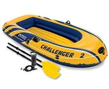 68367 Надувная лодка Challenger 2 Set (до 200кг) 236х114х41см + весла/насос