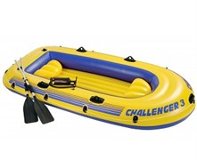 68370 Надувная лодка Challenger 3 Set (до 300кг) 295х137х43см + весла/насос, 2 подушки