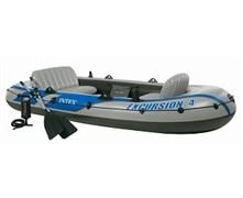 68324 Надувная лодка Excursion 4 Set (до 400кг) 315х165х43см + весла/насос