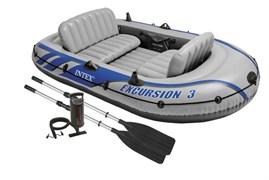 68319 Надувная лодка Excursion 3 Set (до 300кг) 262х157х42см + весла/насос
