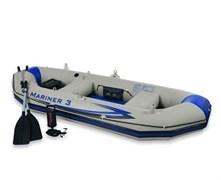 68373 Надувная лодка Mariner 3 Set 297х127х46см 3хслойн.ПВХ алюм.весла, ручн.насос, 2 подушки, до 300кг