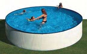 Сборный бассейн GRE Lanzarote круглый, ? 350 x 90 см, 7,69 м3, с фильтром и лестницей, цвет белый