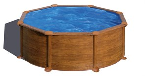 Сборный бассейн GRE Pacific круглый, ? 240 x 120 см, со скиммером и форсункой, плёнка 0,3 мм (отделка под дерево)