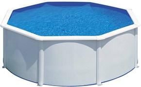 Сборный бассейн GRE Fidji круглый, ? 350 x 120 см, 10,10 м3, со скиммером и форсункой, плёнка 0,3 мм (цвет белый)