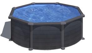 Сборный бассейн GRE Kea круглый, ?=350 x 120 см, 10,10 м3, со скиммером и форсункой, плёнка 0,3 мм (отделка под графит)