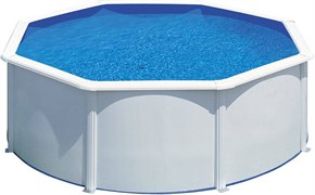 Сборный бассейн GRE Fidji круглый, ? 460 x 120 см, 17,45 м3, со скиммером и форсункой, плёнка 0,3 мм (цвет белый)
