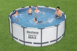 56420 Каркасный бассейн Steel Pro Max 366х122см, 10250л, фил.-насос 2006л/ч, лестница, тент